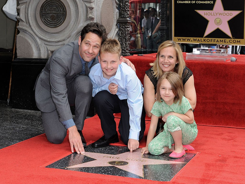Paul Rudd, wife Julie Yaeger, son Jack Rudd and daughter Darby Rudd on July 1, 2015 in Hollywood, California | Photo: Getty Images
