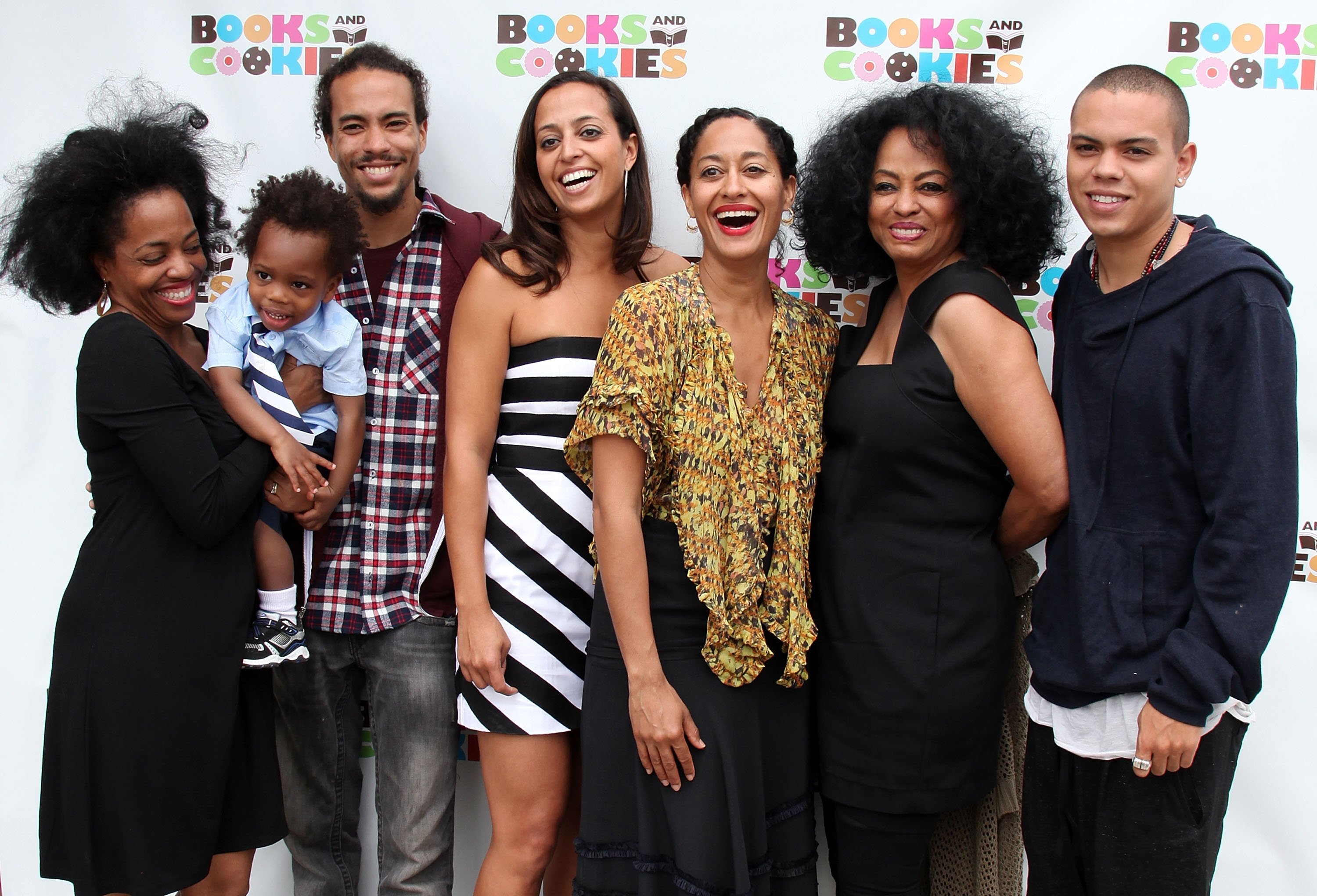 Rhonda Ross Kendrick, Raif Kendrick, Ross Naess, Chudney Ross, Tracee Ellis Ross, Diana Ross and Evan Ross attend the grand opening of Books & Cookies on May 14, 2011 in Santa Monica, California   Photo: Getty Images
