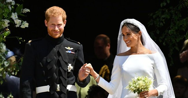 Prince Harry and Meghan Markle pictured at their 2018 wedding, London, England.   Photo: Getty Images