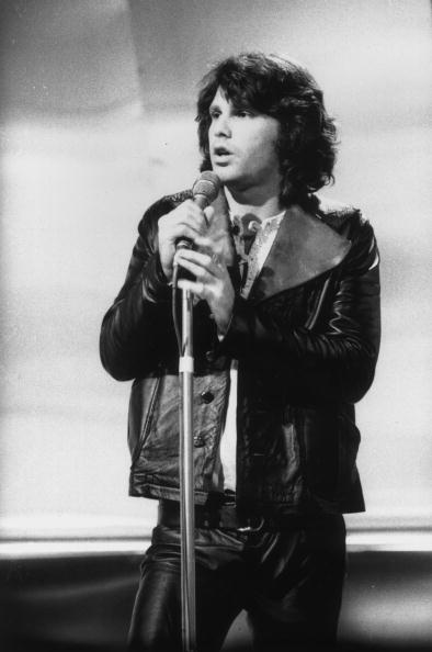 Jim Morrison making a television appearance in Britain, circa 1970. | Photo: Getty Images