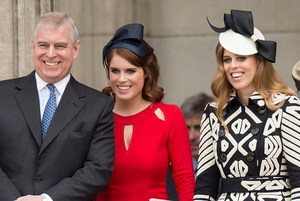 Prince Andrew, Duke of York with Princess Beatrice and Princess Eugenie attend a National Service of Thanksgiving t St Paul's Cathedral on June 10, 2016 in London, England | Photo; Getty Images