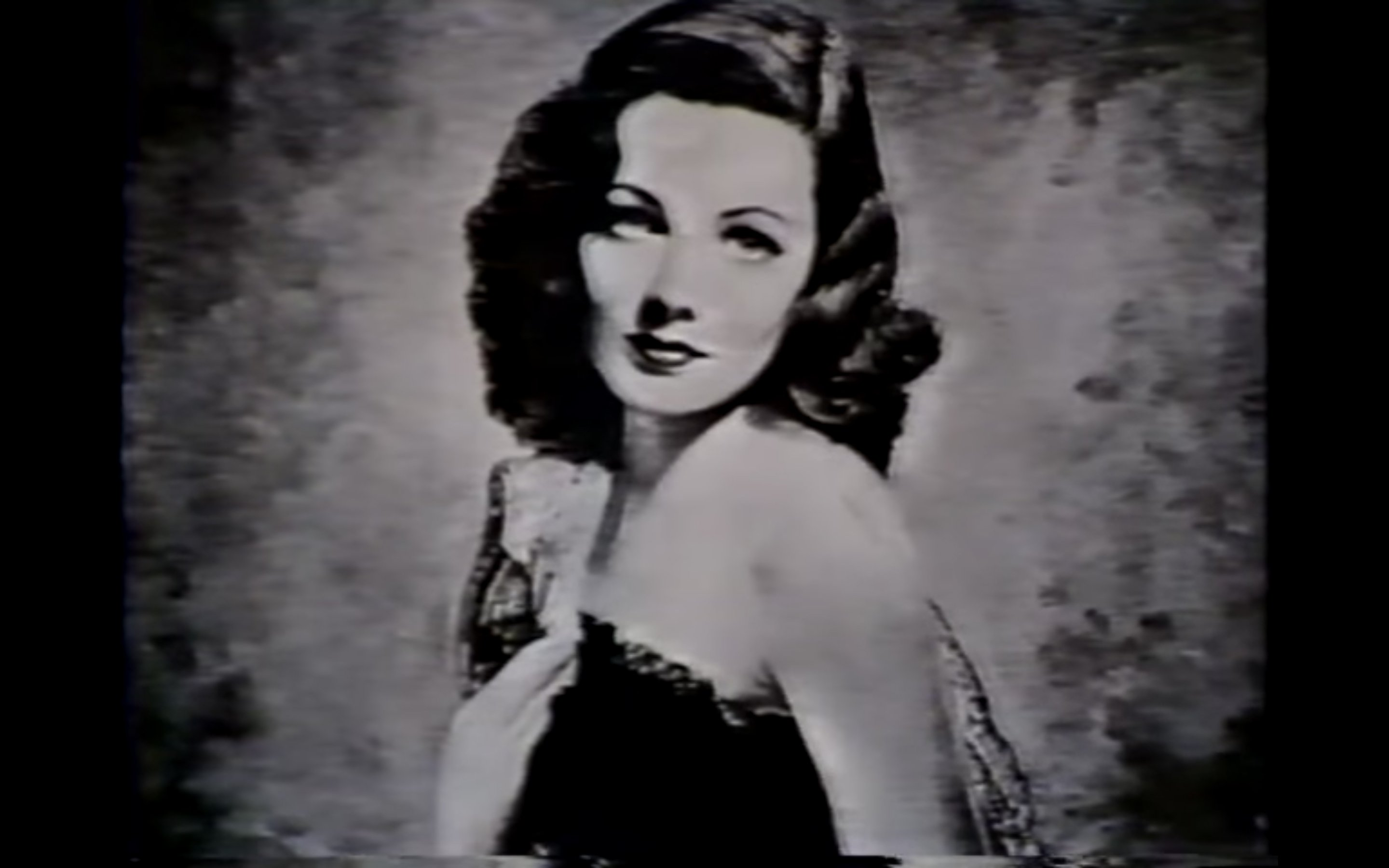 Gene Tierney. : Source: YouTube/AlanEichler