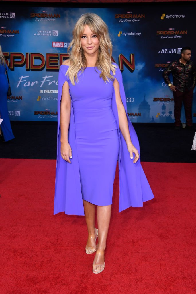 """Hassie Harrison at the Premiere Of Sony Pictures' """"Spider-Man Far From Home"""" at TCL Chinese Theatre on June 26, 2019 