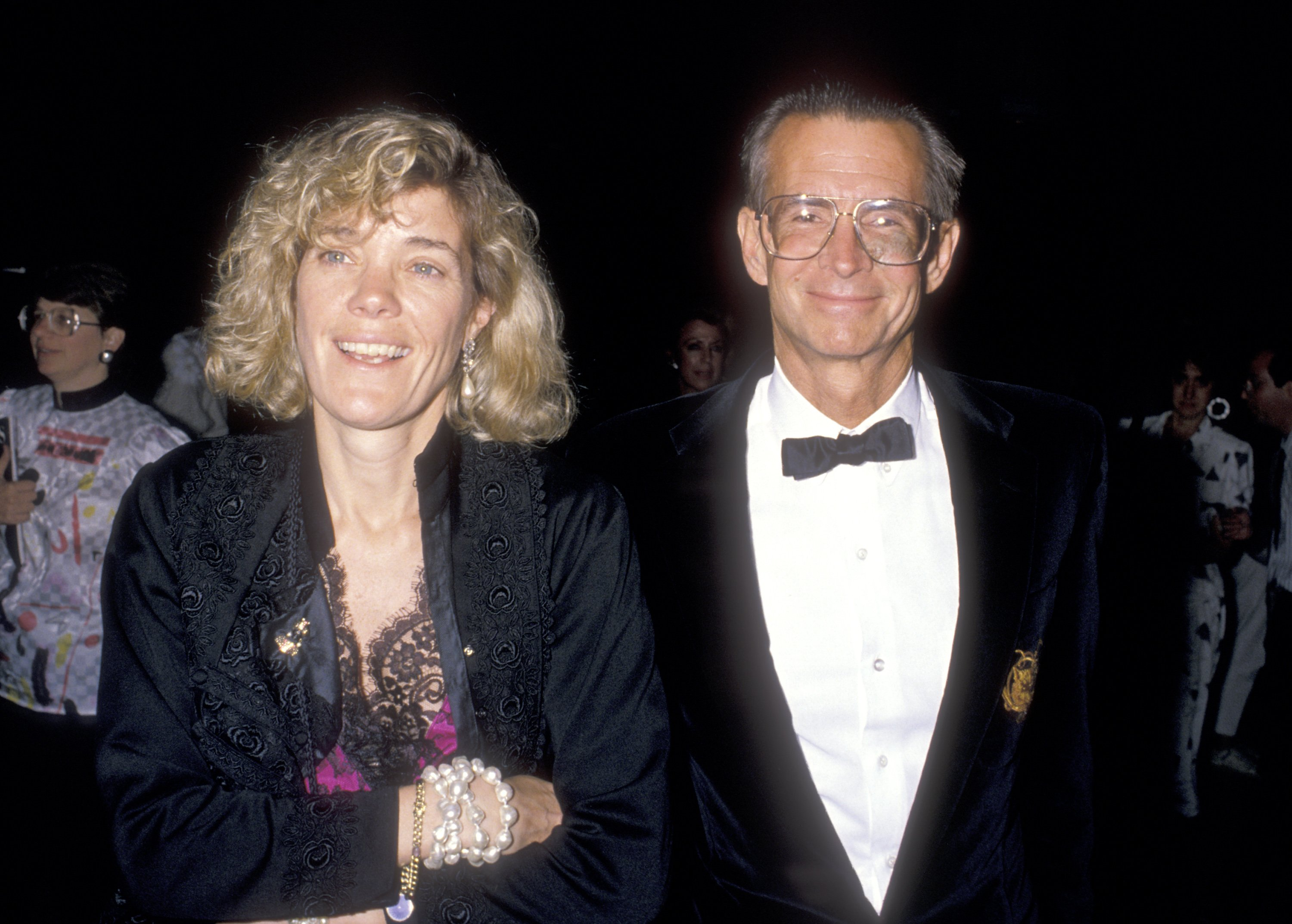 """Anthony Perkins and his wife Berry Berenson attend """"The Phantom of the Opera"""" Opening Night Performance on May 31, 1989 at Ahmanson Theatre, Los Angeles Music Center in Los Angeles, California 