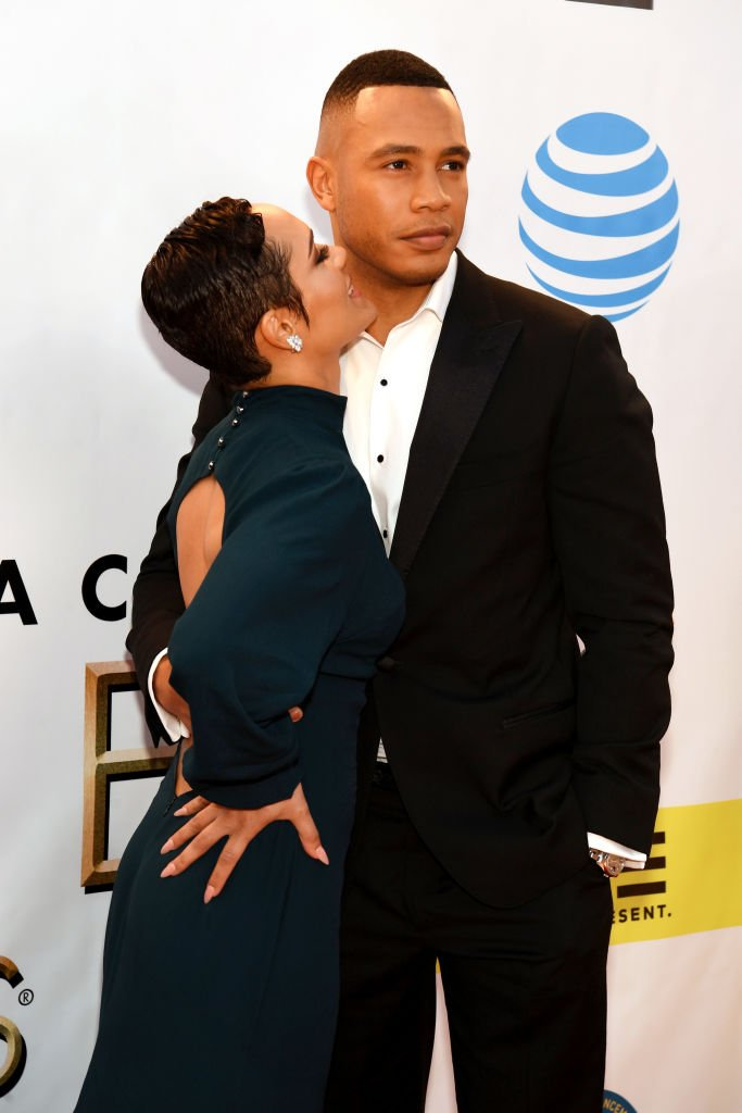 Grace Gealey & Trai Byers attend the 48th NAACP Image Awards on Feb. 11, 2017 in Pasadena, California | Photo: Getty Images