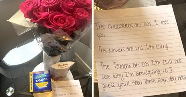 Jack Sullivan took to Twitter, sharing his apology post, which included a trio of gifts and a note. | Photo: twitter.com/SullivansTweets