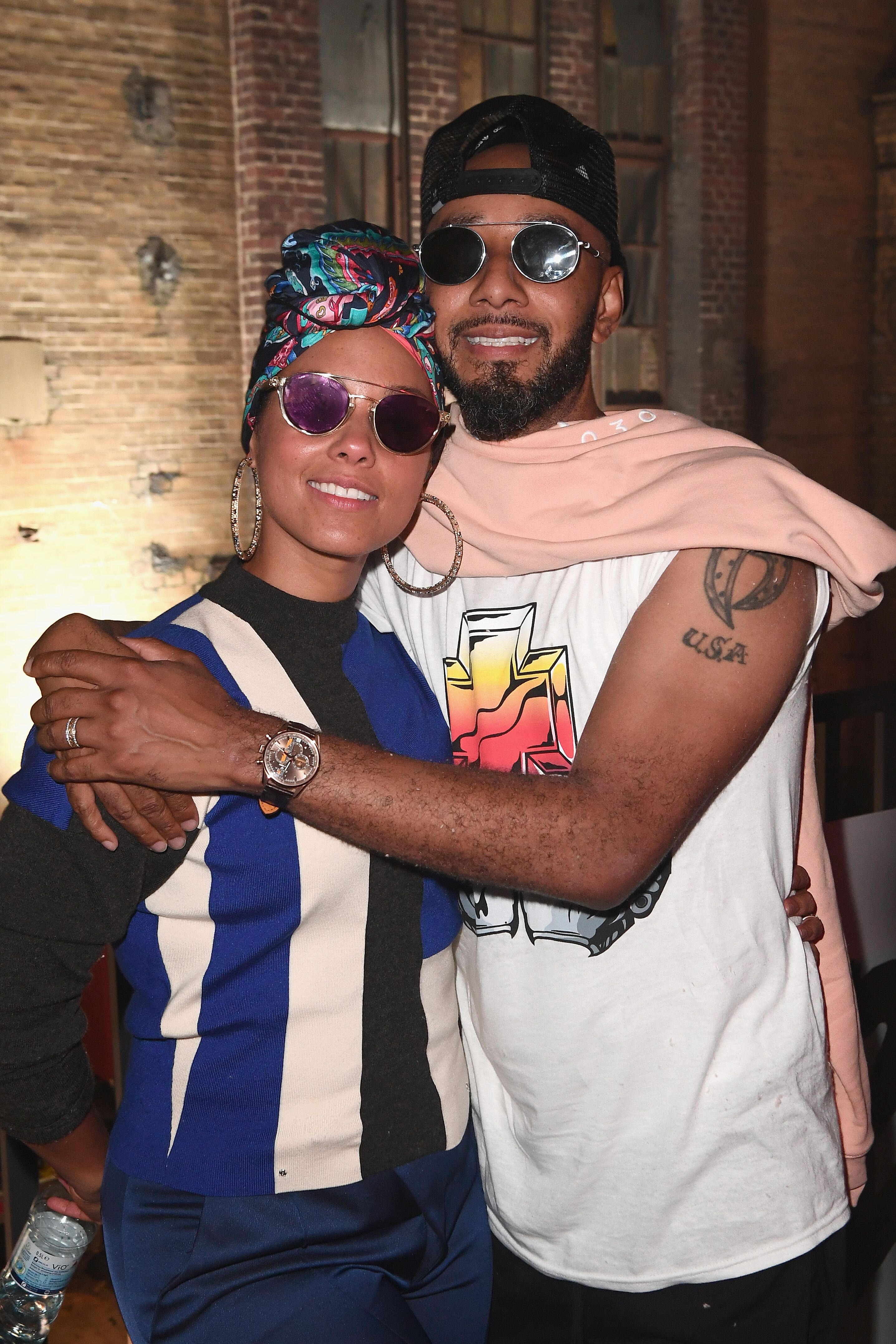 """Swizz Beatz and Alicia Keys at the """"The Dean Collection Present: No Commission"""" in 2017 in Berlin   Source: Getty Images"""