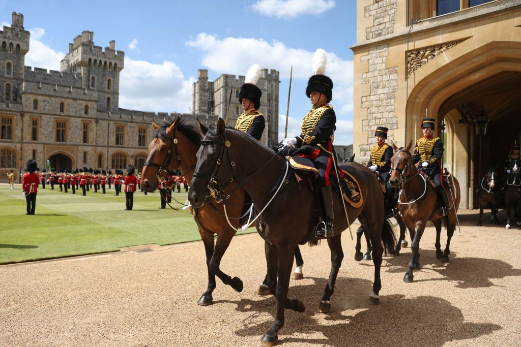 The King's Troop Royal Horse Artillery during the Trooping the Colour ceremony in the Quadrangle of Windsor Castle to mark the Official Birthday of Queen Elizabeth II in Windsor, England | Photo: Chris Jackson/Getty Images
