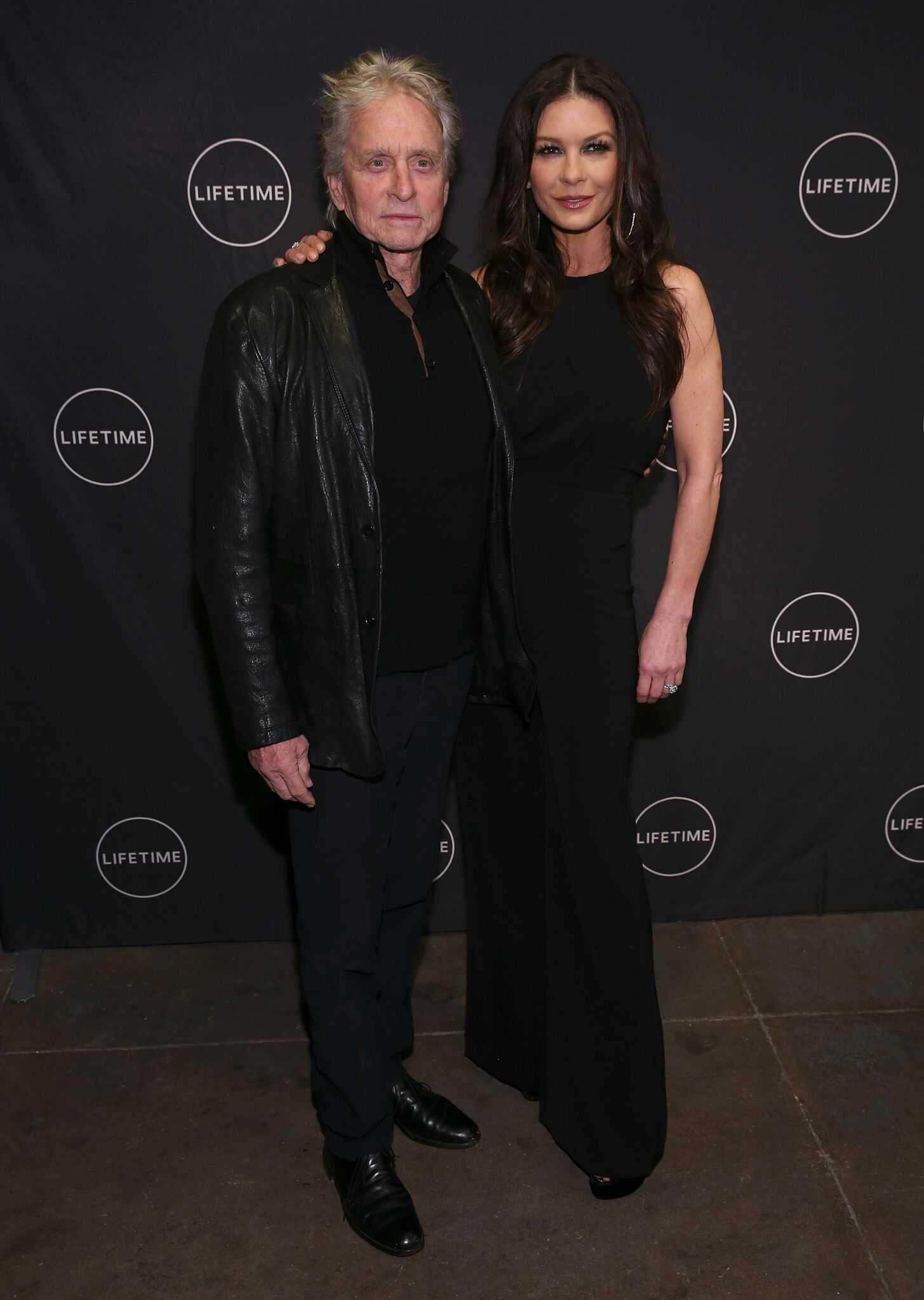 "Michael Douglas and Catherine Zeta-Jones attend the Lifetime Luminaries screening of ""Cocaine Godmother, The Griselda Blanco Story"" at NeueHouse Madison Square 