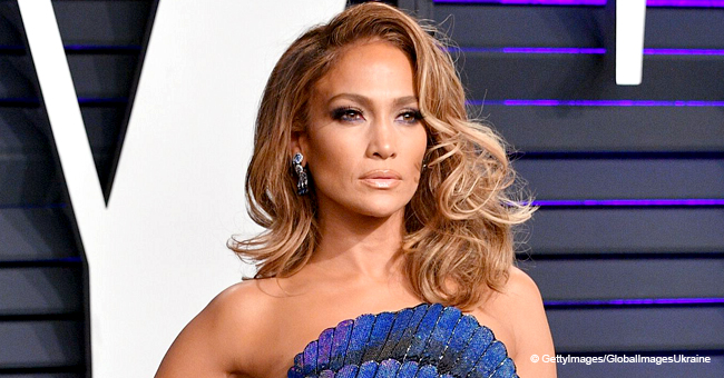 Jennifer Lopez Dances around a Stripper Pole in Nylons