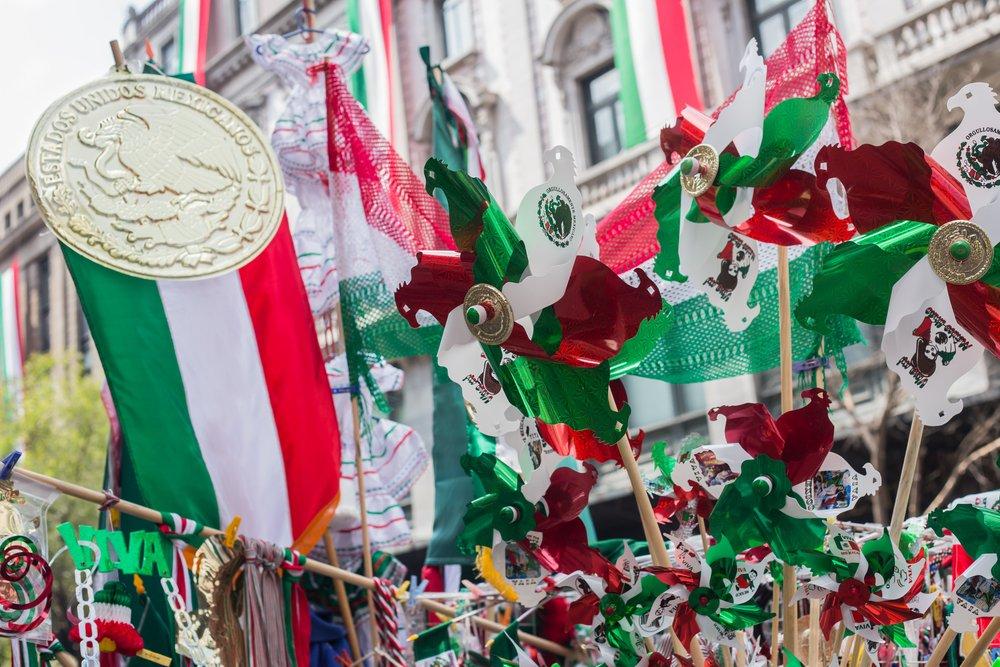 Celebración del día de la Independencia en México.| Fuente: Shutterstock