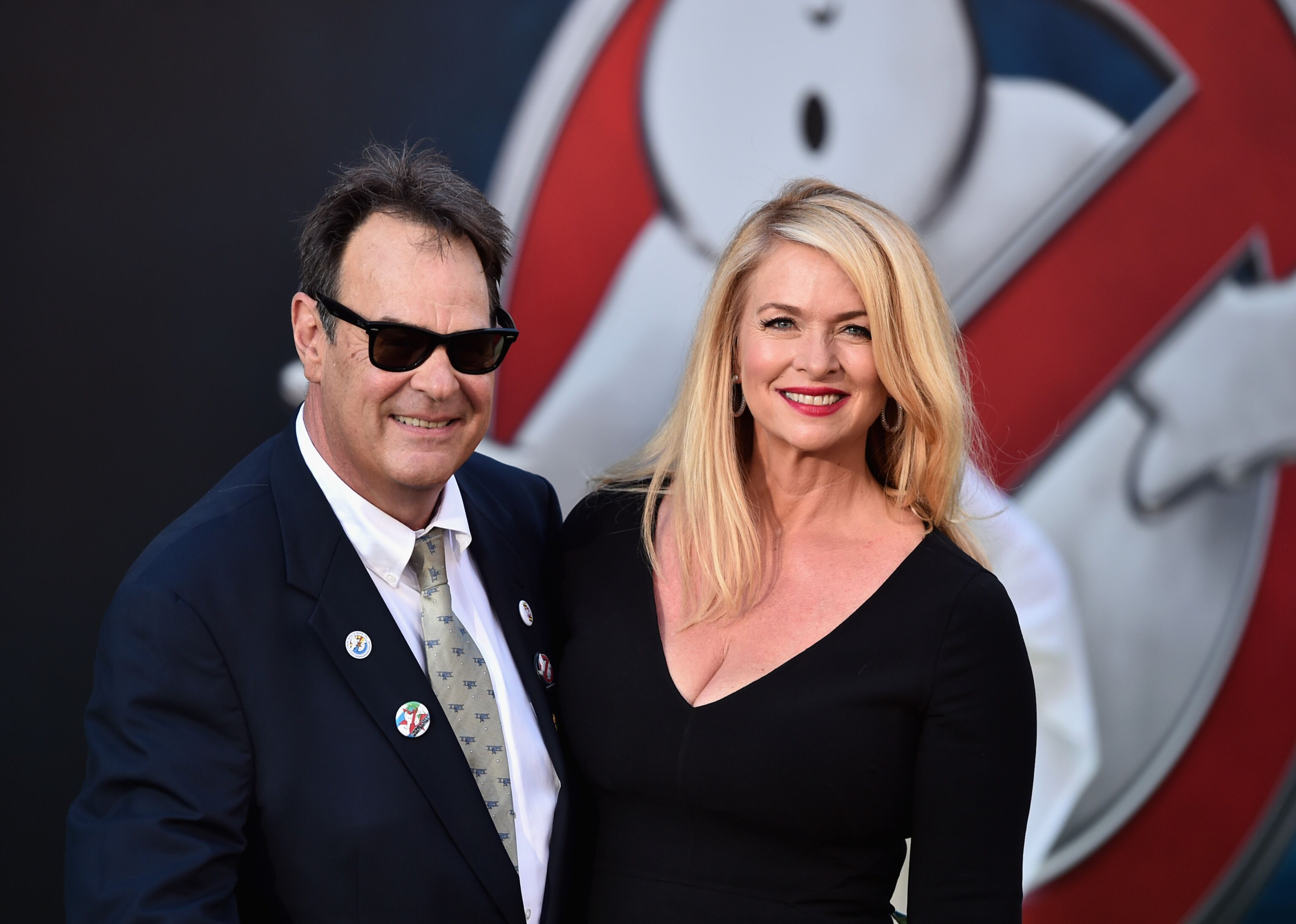 Dan Aykroyd and Donna Dixon arrive at the Premiere of Sony Pictures' 'Ghostbusters' at TCL Chinese Theatre. | Source: Getty Images