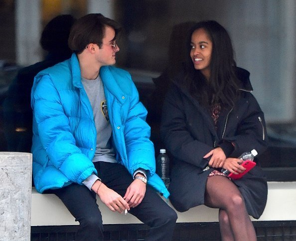 Rory Farquharson, Malia Obama are seen on January 20, 2018 in New York City. | Photo:Getty Images