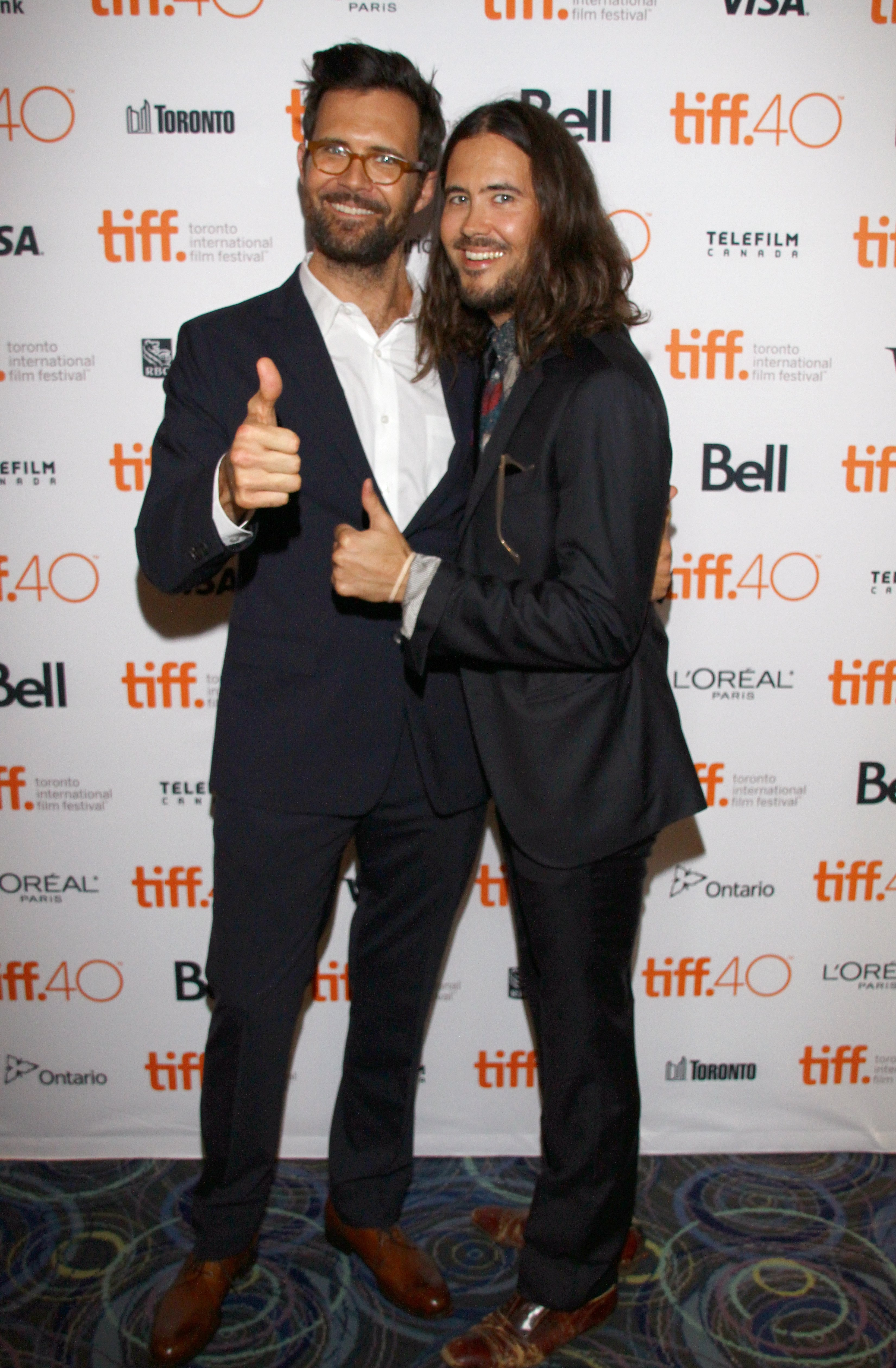 """Actor Oz Perkins and artist Elvis Perkins attend the """"February"""" photo call during the 2015 Toronto International Film Festival at Scotiabank on September 12, 2015 in Toronto, Canada   Photo: Getty Images"""