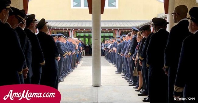 Pilot lost his daughter in Florida shooting. Over 100 men in uniform lined up at her funeral