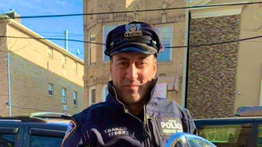 The officer who was killed by a drunk driver, Police Officer Anastasios Tsakos | Source: Twitter/@CBSNewYork