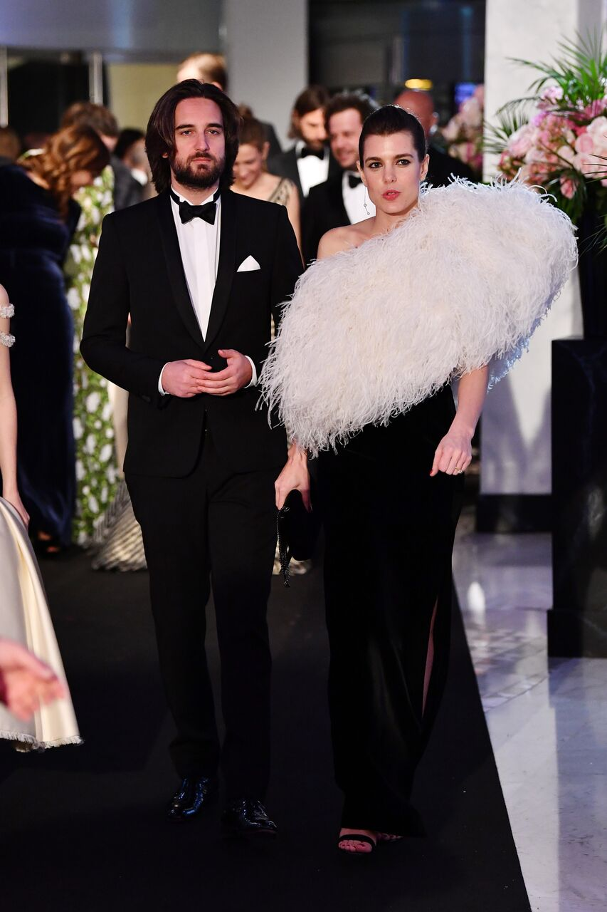 Dimitri Rassam and Charlotte Casiraghi arrive at the Rose Ball 2018. | Source: Getty Images