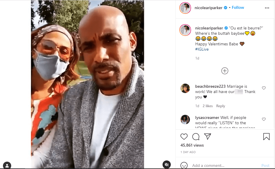 Screenshot from a video shared by Nicole Ari Parker on her Instagram account | Source: Instagram.com/nicoleariparker