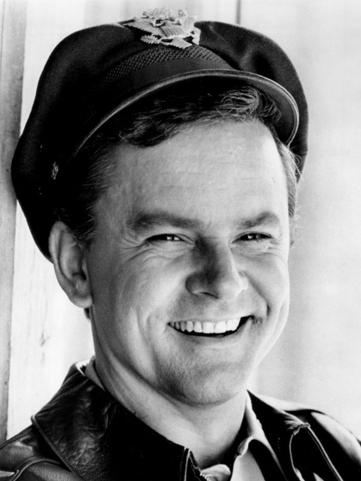 "Photo of Bob Crane as Colonel Hogan from the television program ""Hogan's Heroes,"" circa 1969. 