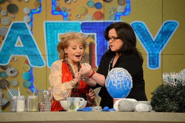 Barbara Walters joins Rosie O'Donnell making holiday ornaments   Photo: Getty Images