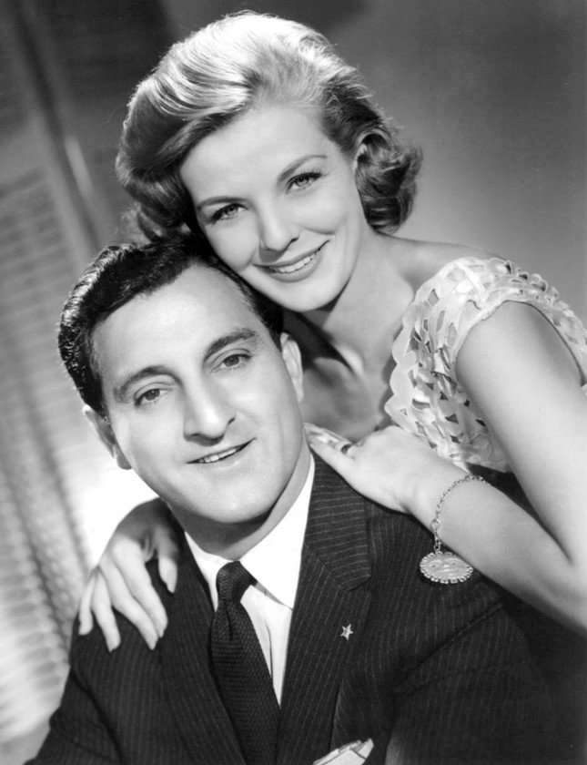 "Publicity photo of Danny Thomas and Marjorie Lord from the television program ""Make Room for Daddy,"" circa 1950s. 