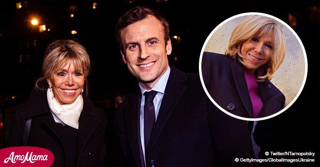 Brigitte Macron choisit une robe fuchsia très serrée pour rencontrer la première dame d'Israël à l'Élysée