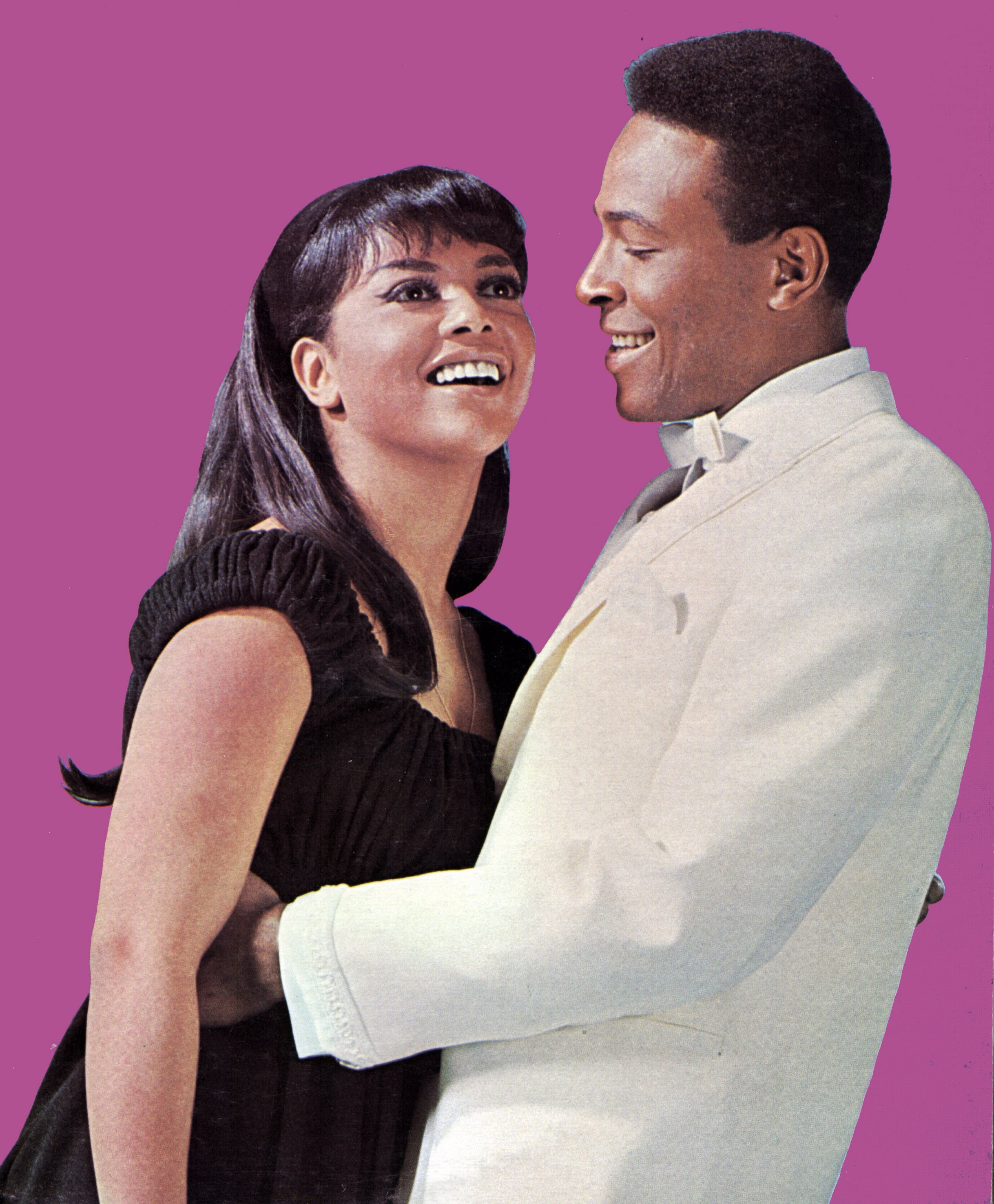 Posed portrait of Tammi Terrell and Marvin Gaye, unspecified date. | Source: Getty Images