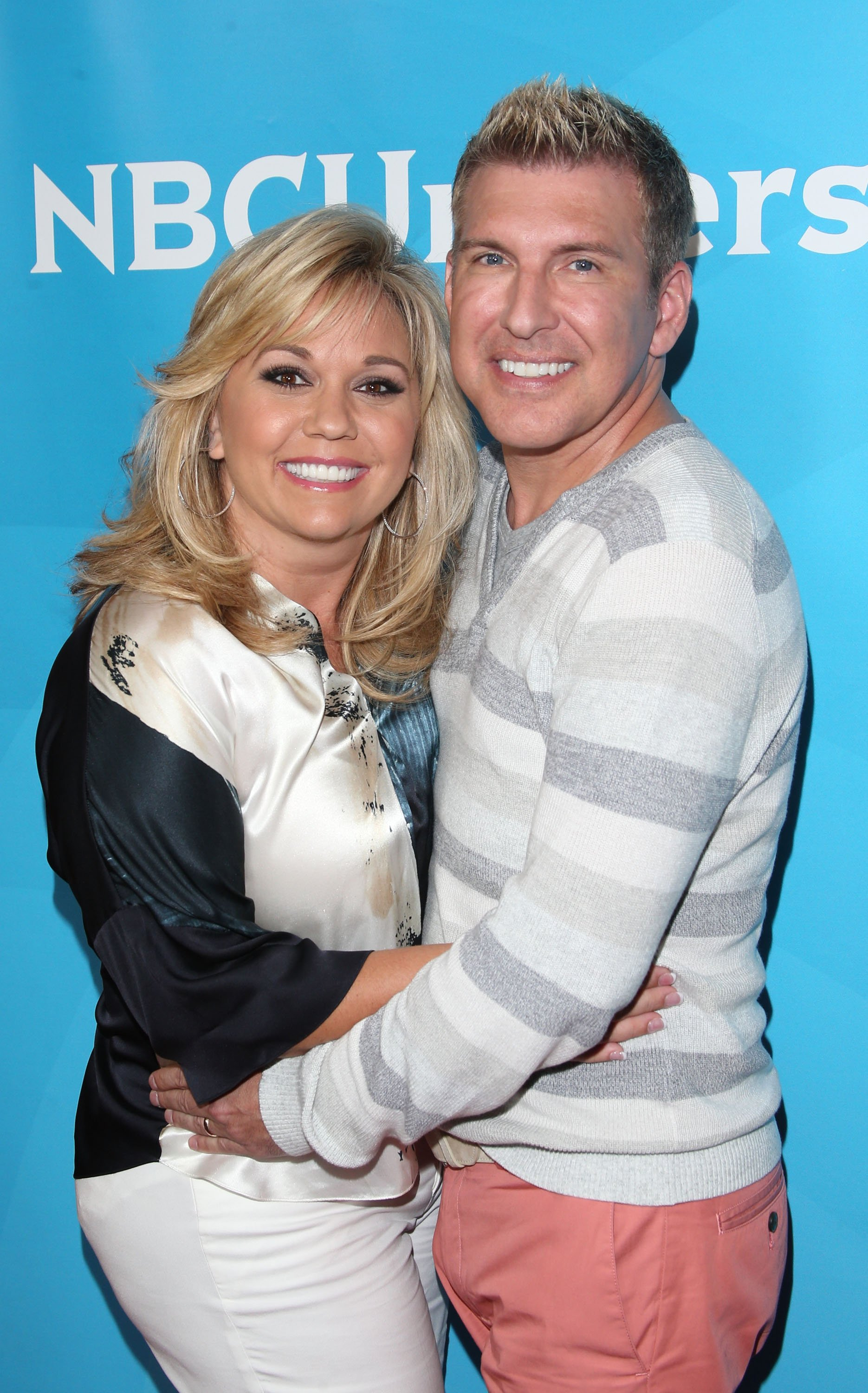 Julie and Todd Chrisley at the Summer TCA Tour held at The Beverly Hilton Hotel on July 14, 2014 in California | Photo: Getty Images