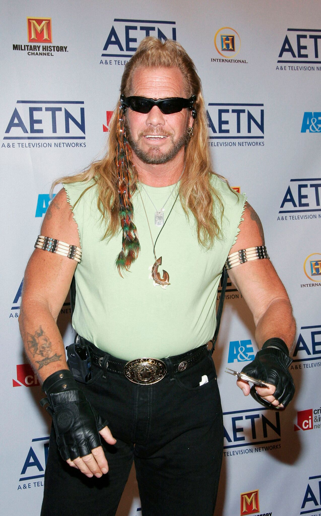 Dog The Bounty Hunter arrives to A&E Television Networks Upfront celebration | Getty Images