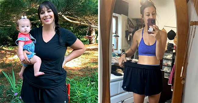 A young mother embarked on a weight loss journey and now she looks like a whole new person   Photo: Tiktok/mamabird2
