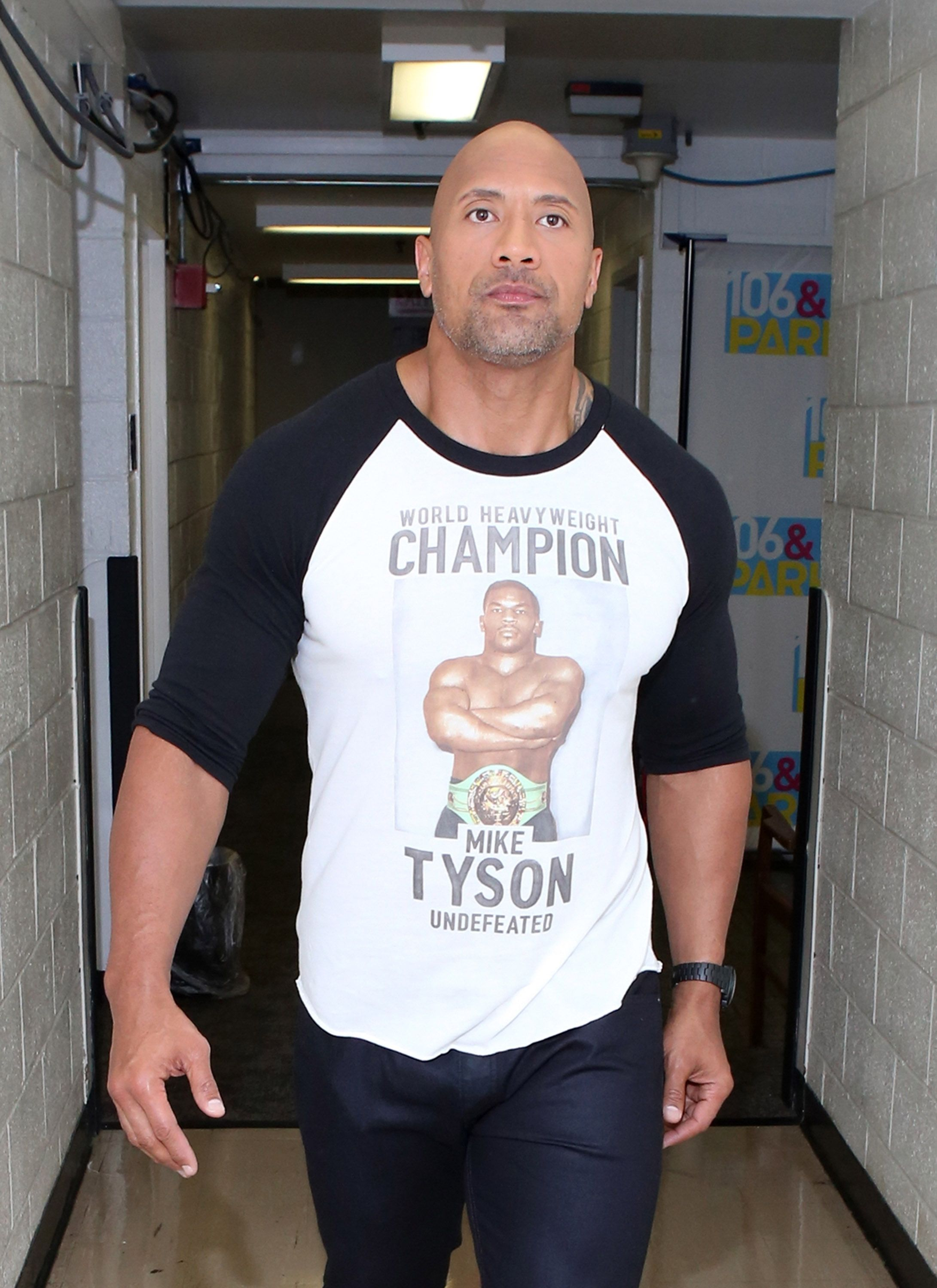 Dwayne Johnson at the 106 & Park at BET studio on July 22, 2014 in New York City. | Source: Getty Images