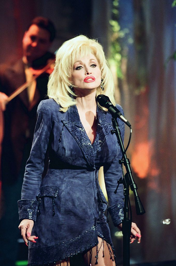 "Dolly Parton at ""The Tonight Show with Jay Leno"" in 1999 
