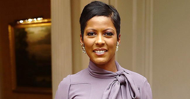 Tamron Hall's Baby Wears Stars Suspenders & Stripes Bowtie for 4th of July