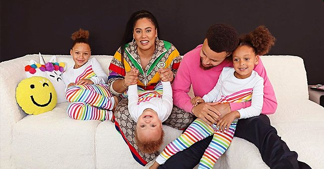 Ayesha and Steph Curry Get Cozy with Their Kids Dressed in Colorful Outfits in Cute Family Photo
