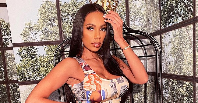 Erica Mena Channels Her Inner Diva in a Printed Outfit — See the Stunning Snap