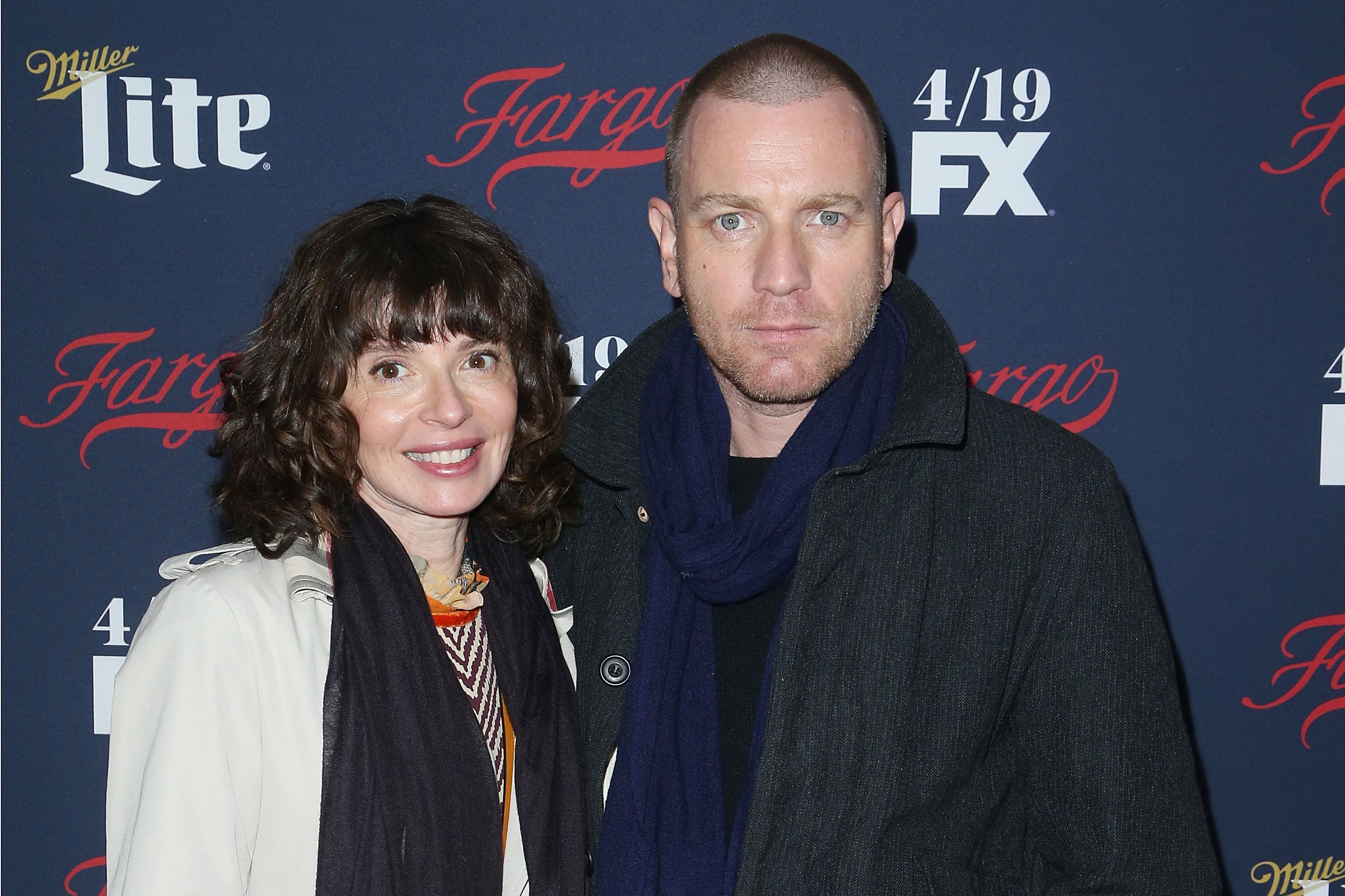 Eve Mavrakis and Ewan McGregor at the SVA Theater in 2017 in New York City | Source: Getty Images