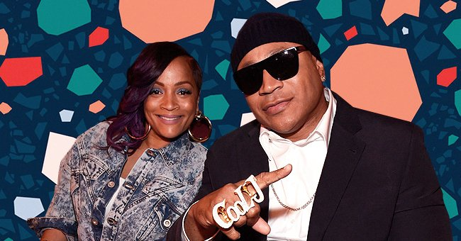 LL Cool J's Wife Simone Shows Her Bohemian Side Posing in a Ruffle Dress & Glittering Shoes near a Big Painting