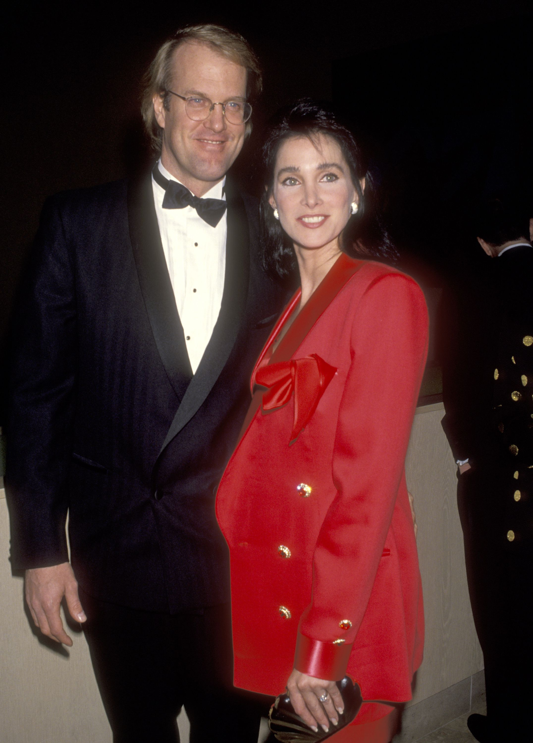 John Tesh and Connie Sellecca attend the American Friends of The Hebrew University's Scopus Award on January 30, 1993 in Beverly Hills, California   Photo: Getty Images