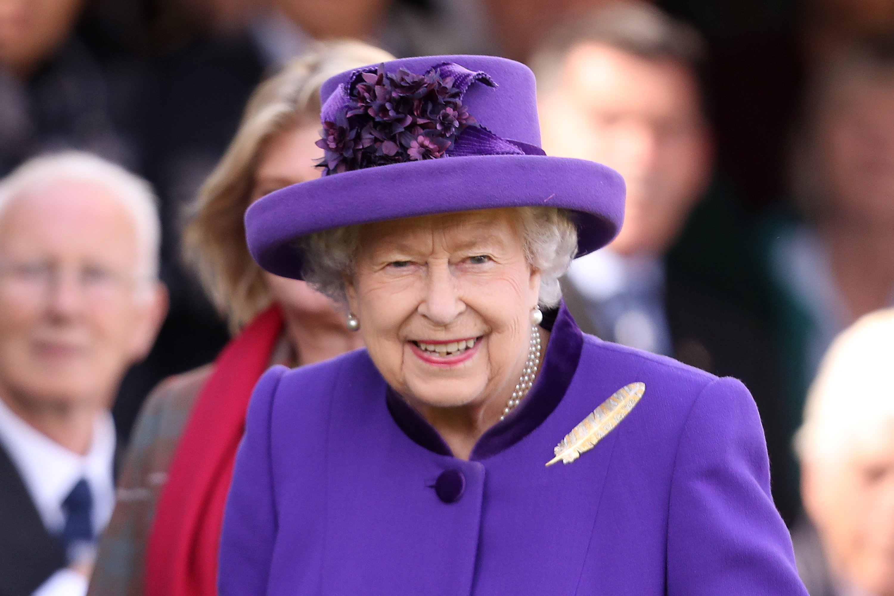 Queen Elizabeth II during the Braemar Highland Games on September 07, 2019, in Braemar, Scotland. | Source: Getty Images.