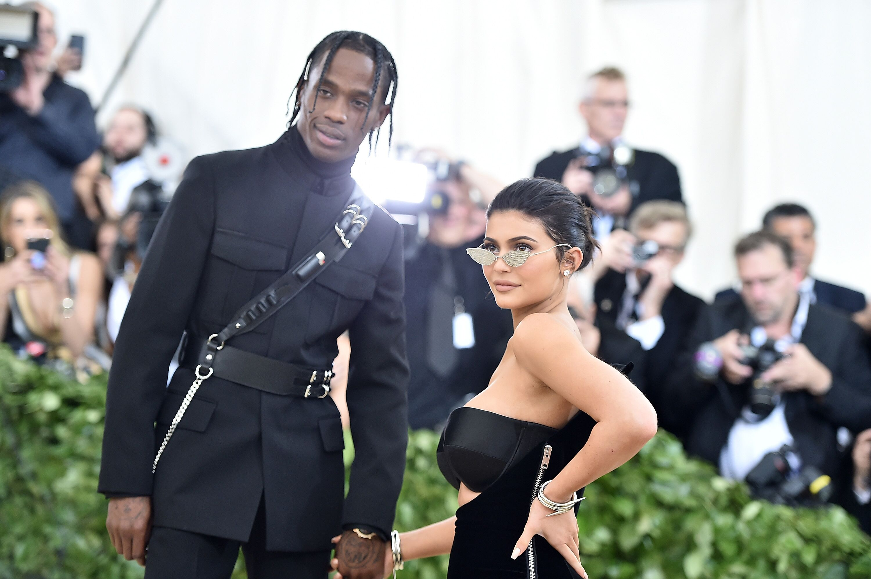 Kylie Jenner and Travis Scott on the red carpet of the MET Gala in New York | Source: Getty Images/GlobalImagesUkraine