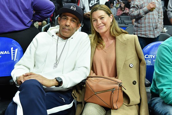 Chris Ivery and Ellen Pompeo at Staples Center on January 14, 2020 in Los Angeles, California. | Photo: Getty Images