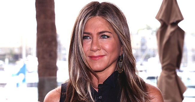 Jennifer Aniston of 'Friends' Shares Cute Black & White Childhood Photo with Adorable Brunette Curls