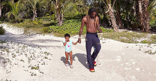 Cardi B's Fans Have Mixed Reactions to a Snap of Offset Walking Their Baby Kulture on the Beach