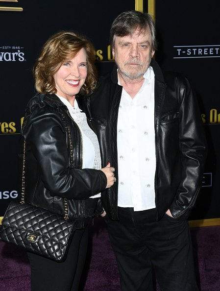 Mark Hamill and Marilou York at Regency Village Theatre on November 14, 2019 in Westwood, California. | Photo: Getty Images
