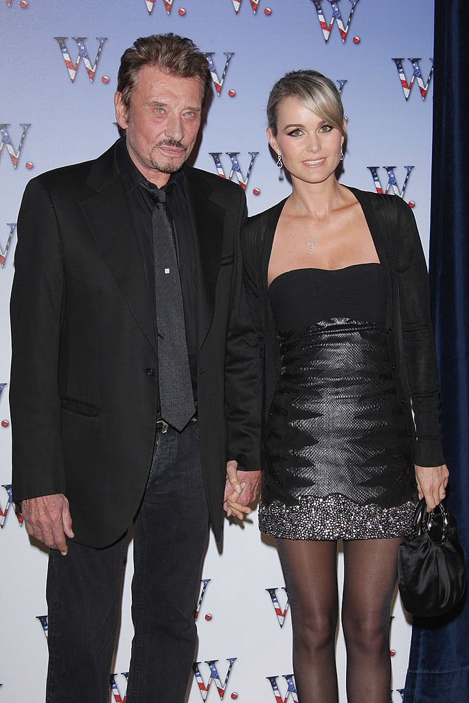 Laeticia et Johnny Hallyday le 21 octobre 2008 à Paris. l Source : Getty Images