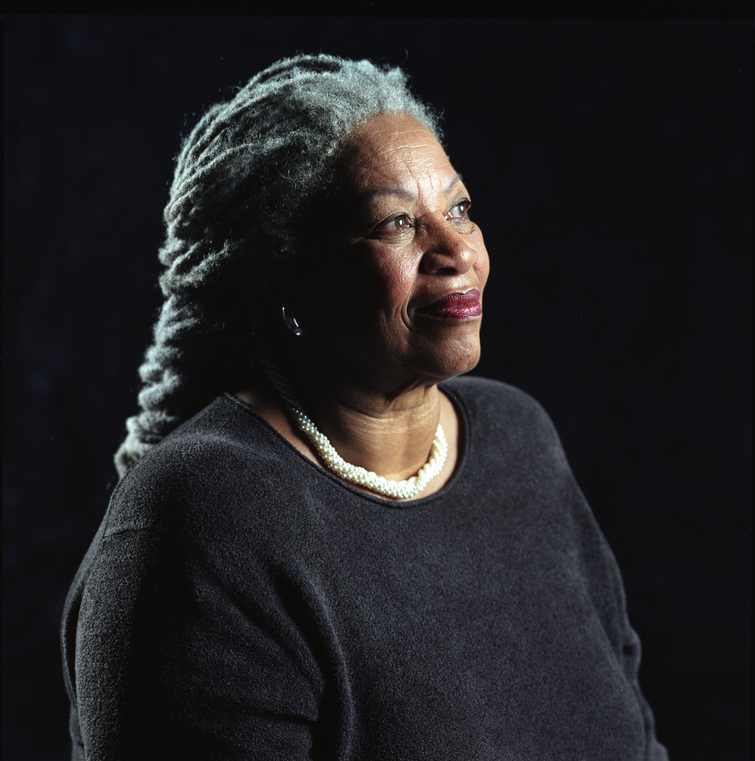 """Author Toni Morrison poses for a portrait for her book entitled """"Love"""" in Midtown Manhattan on August 29, 2002.   Photo: GettyImages"""