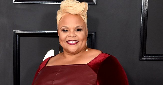 Tamela Mann Flaunts Her Hourglass Figure in a Pink Top and Overalls in a Photo on Her Birthday