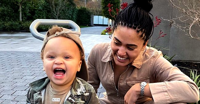 Stephen Curry's Wife Ayesha & Son Ryan Make Pasta Together
