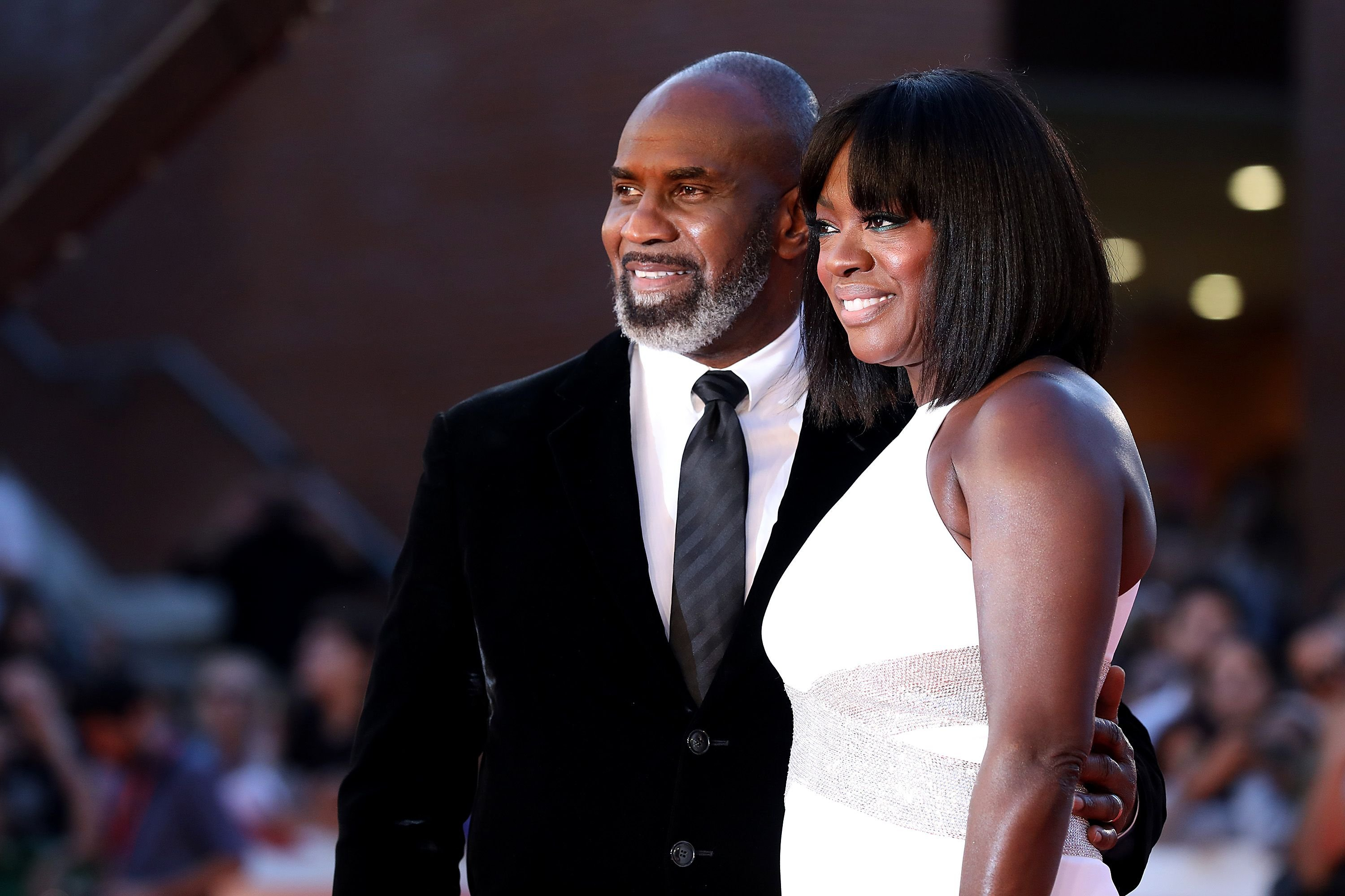 Julius Tennon and Viola Davis at the red carpet during the 14th Rome Film Festival on October 26, 2019 in Rome, Italy | Photo: Getty Images