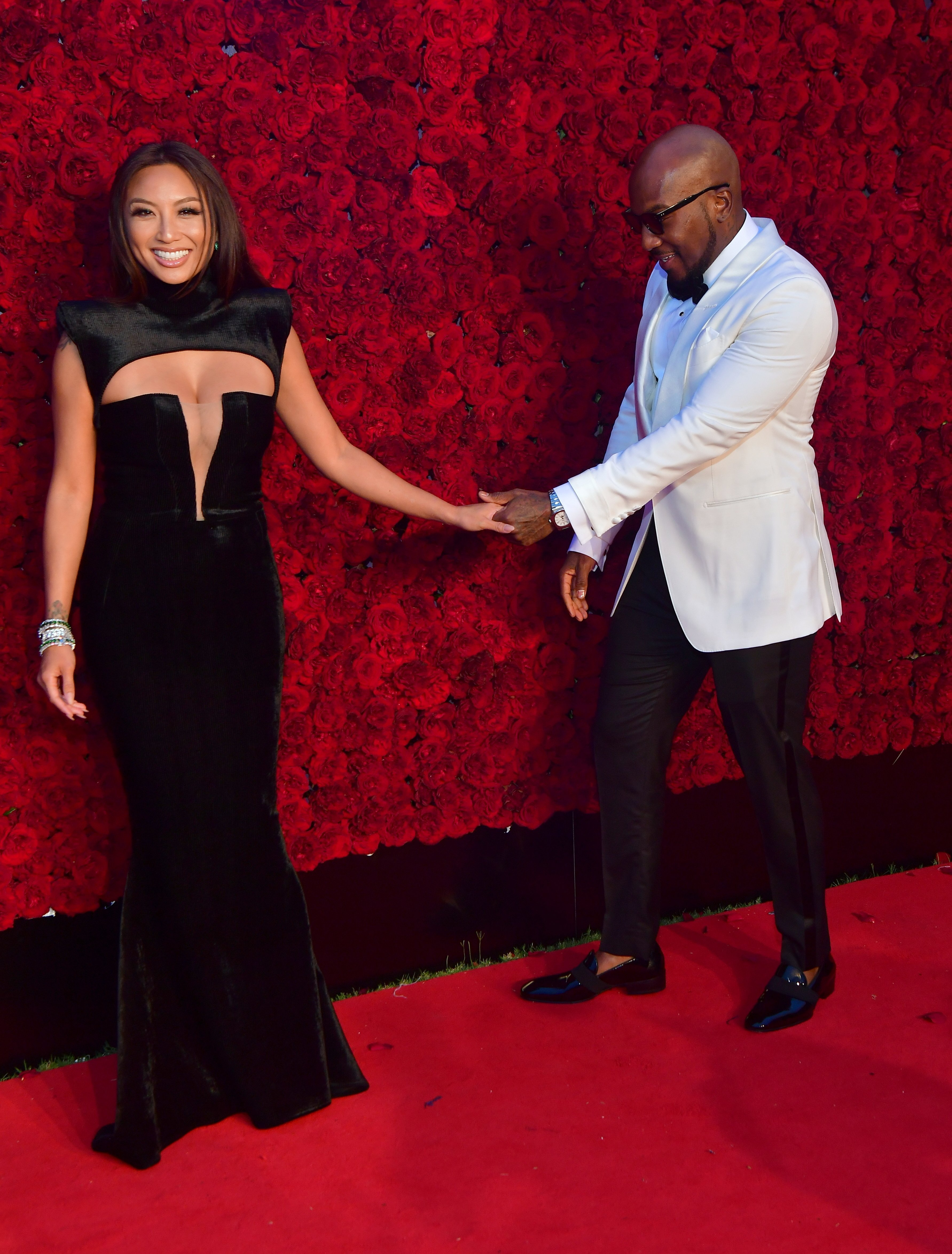 Jeannie Mai and Young Jeezy attend Tyler Perry Studios Grand Opening Gala - Arrivals at Tyler Perry Studios | Photos : Getty Images